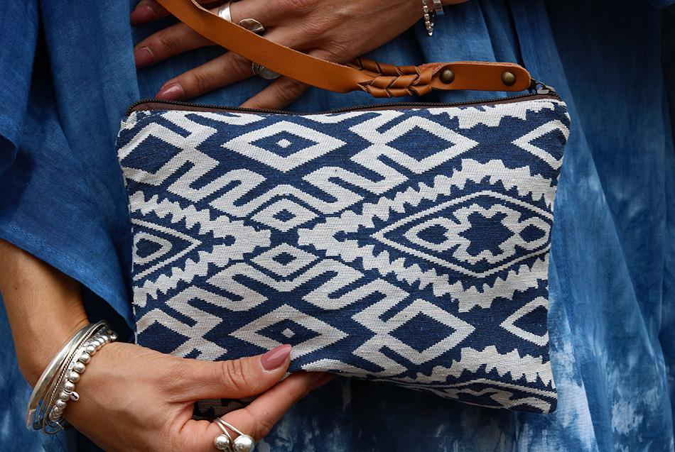 Pacific Tides Handmade Pouch Bag