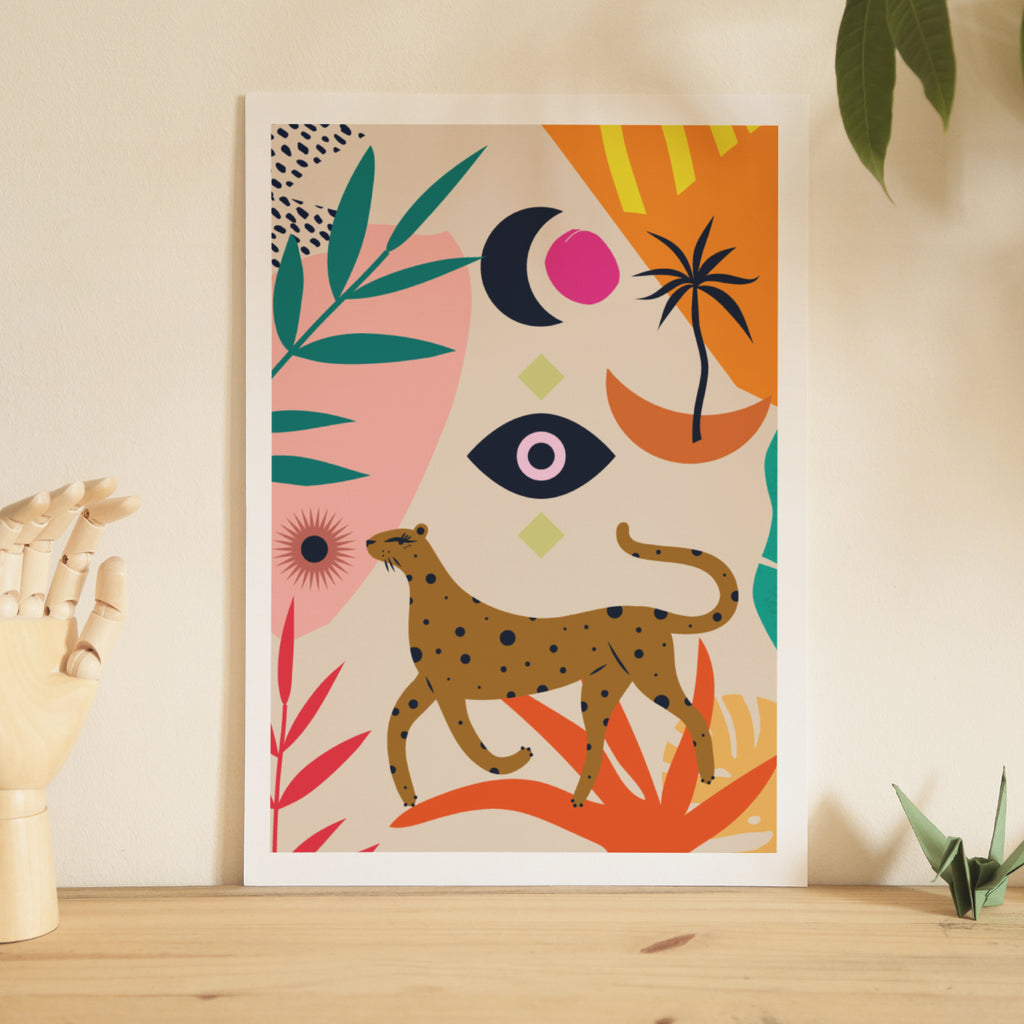 Walking Leopard Art Print
