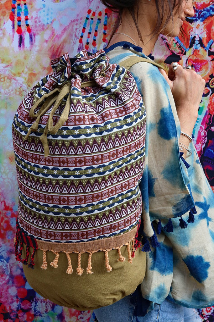 All I Need Handmade Canvas Backpack