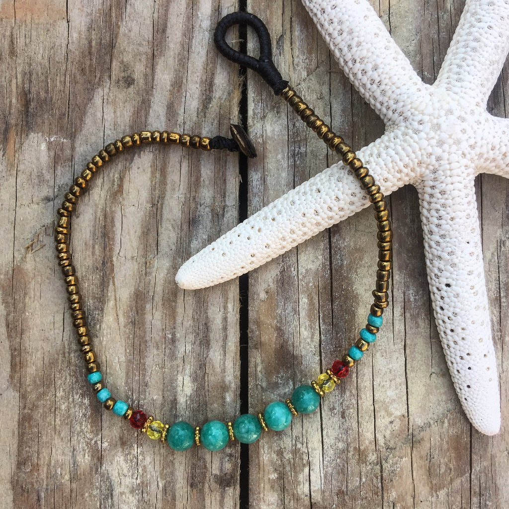 The World Is Yours Handmade Beaded Anklet