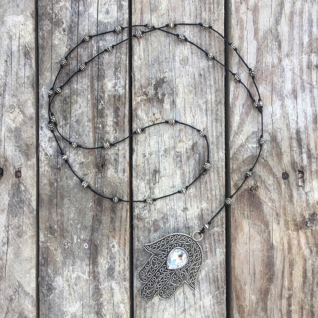 Silver Lining Handmade Hasma Necklace