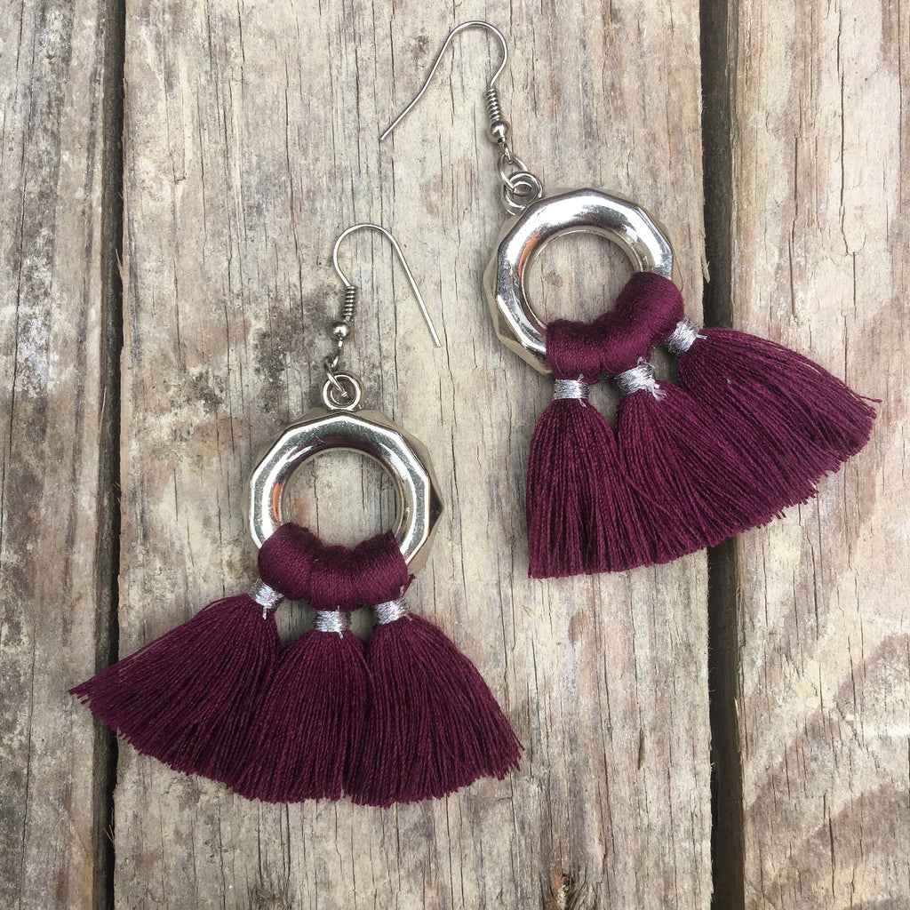 Raja Handmade Tassel Tie Earrings