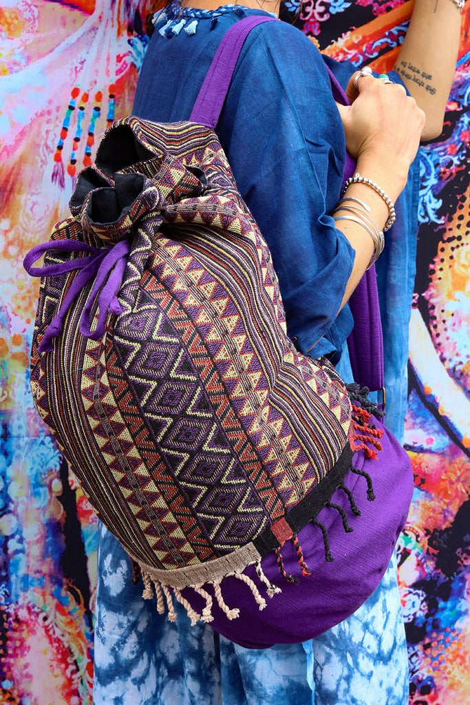 Freedom Within Handmade Canvas Backpack