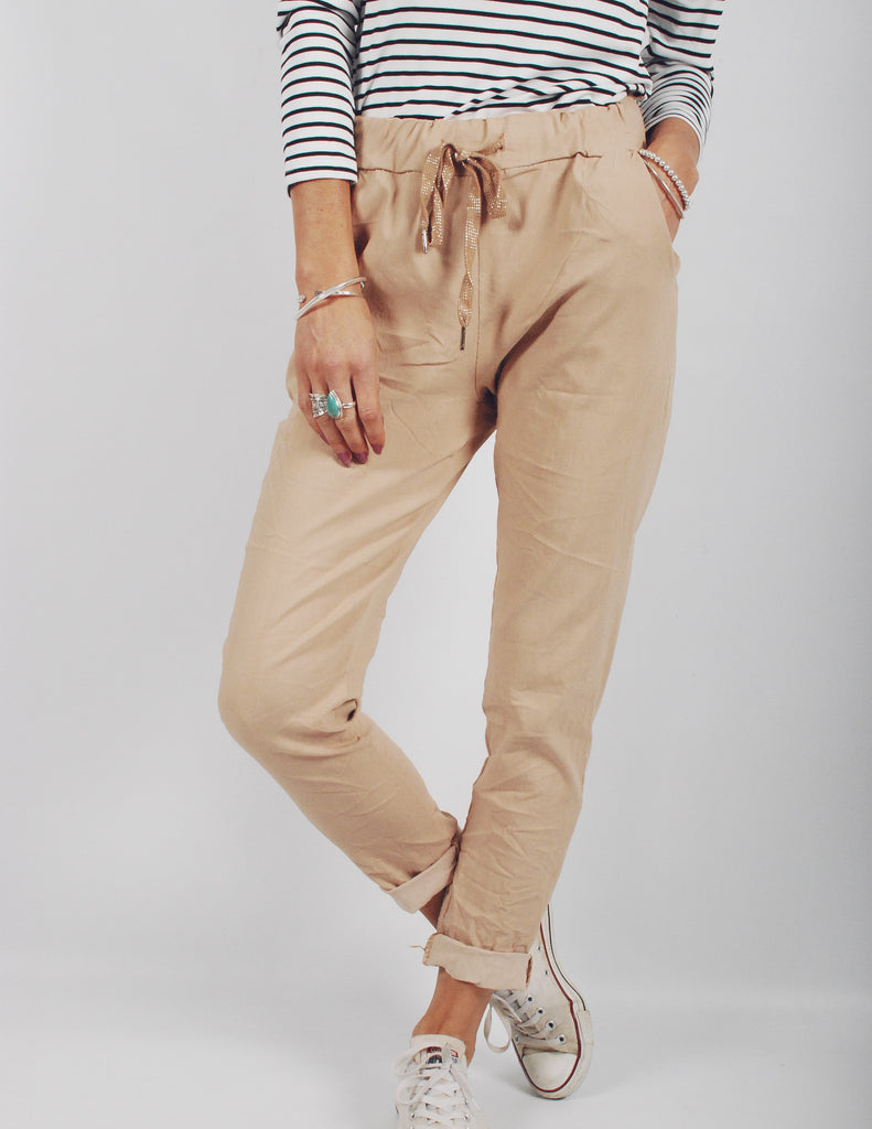 Latte Affair Relaxed Trousers