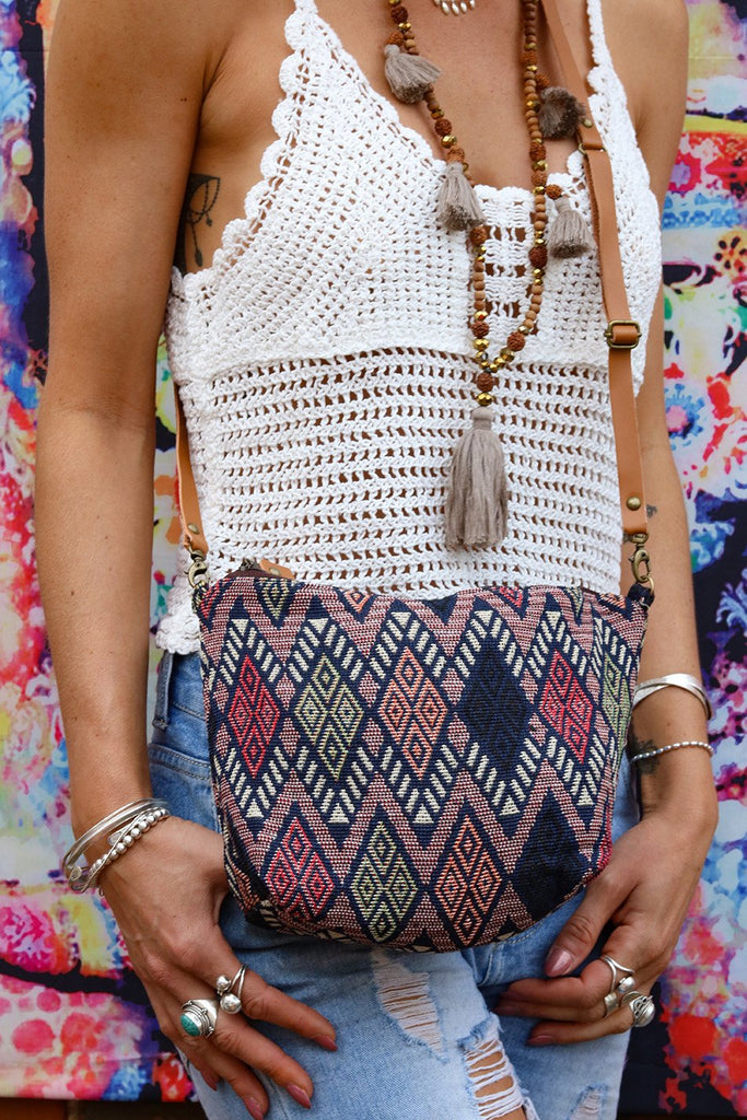 Feel The Vibe Drive Lovers Slouchy Handmade Shoulder Bag