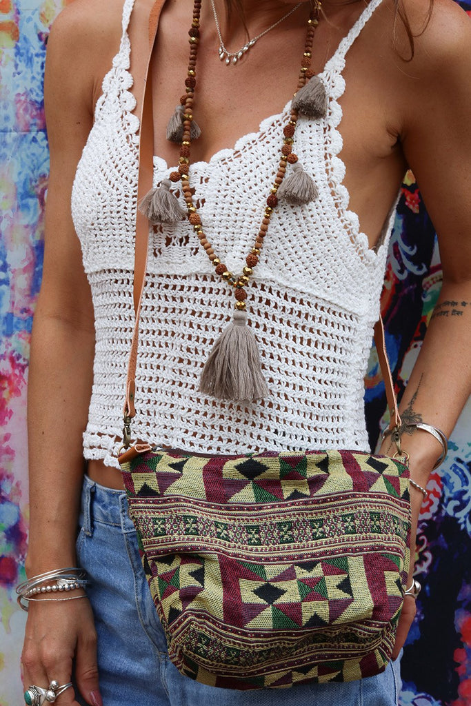 Free Traveler Lovers Slouchy Handmade Shoulder Bag