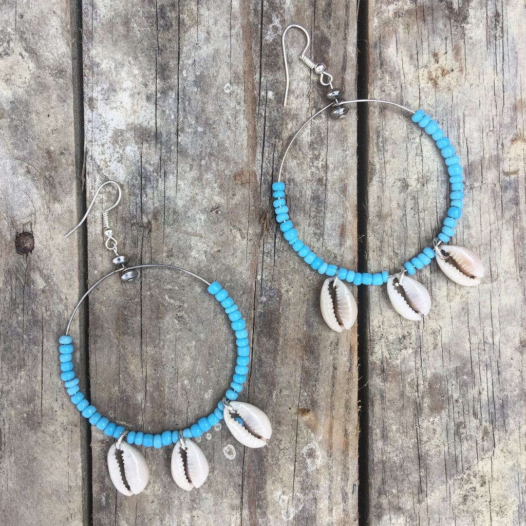 Lombok Handmade Cowrie shell Earrings