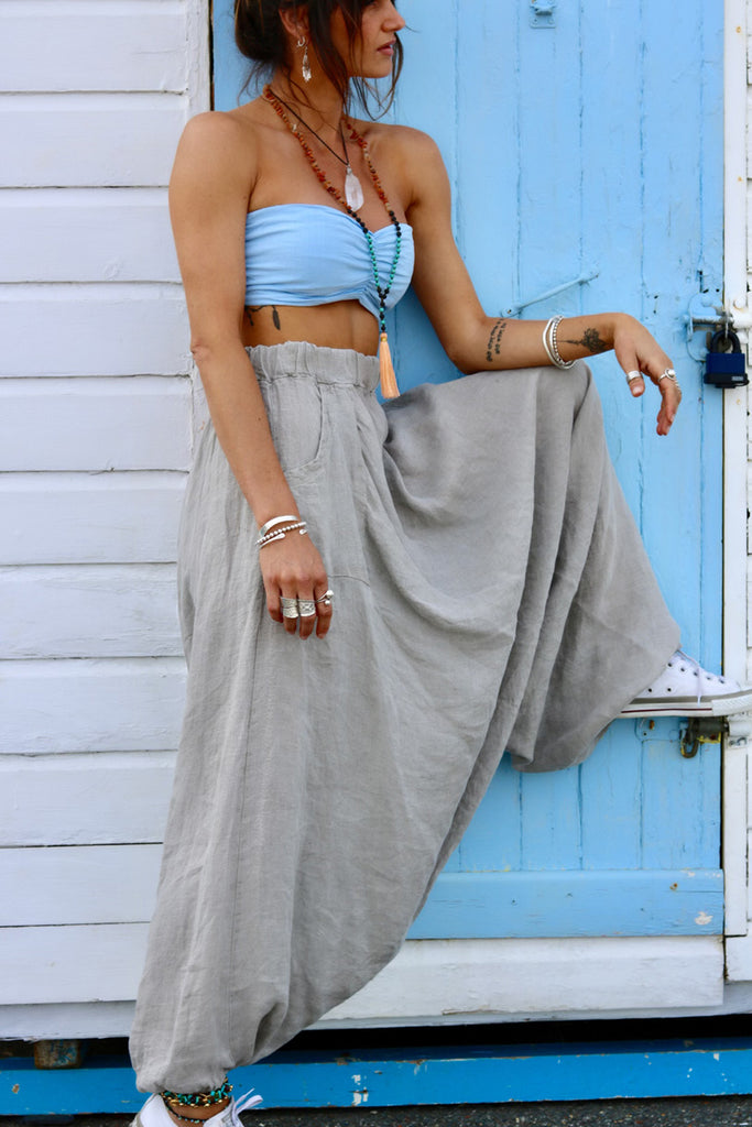 Thinking About You Pure Linen Parachute Pants
