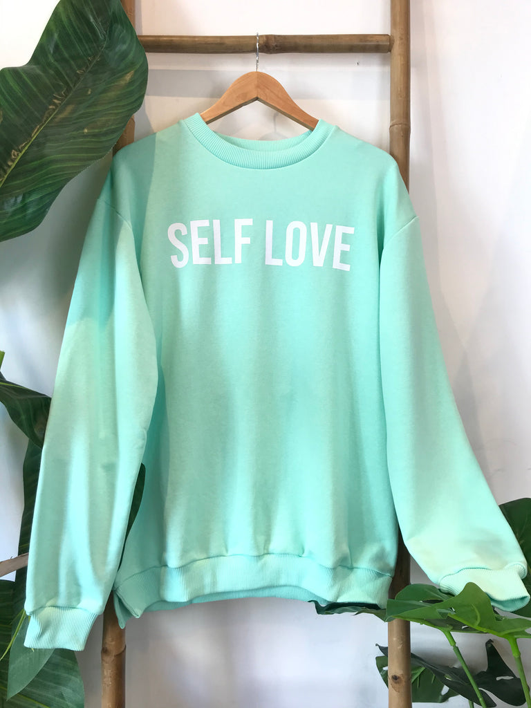 A Self Love Pastel Oversized Jersey Sweater