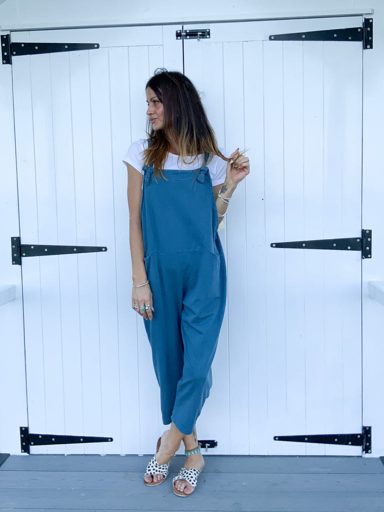 Say What Sloppy Jersey Cotton Dungarees