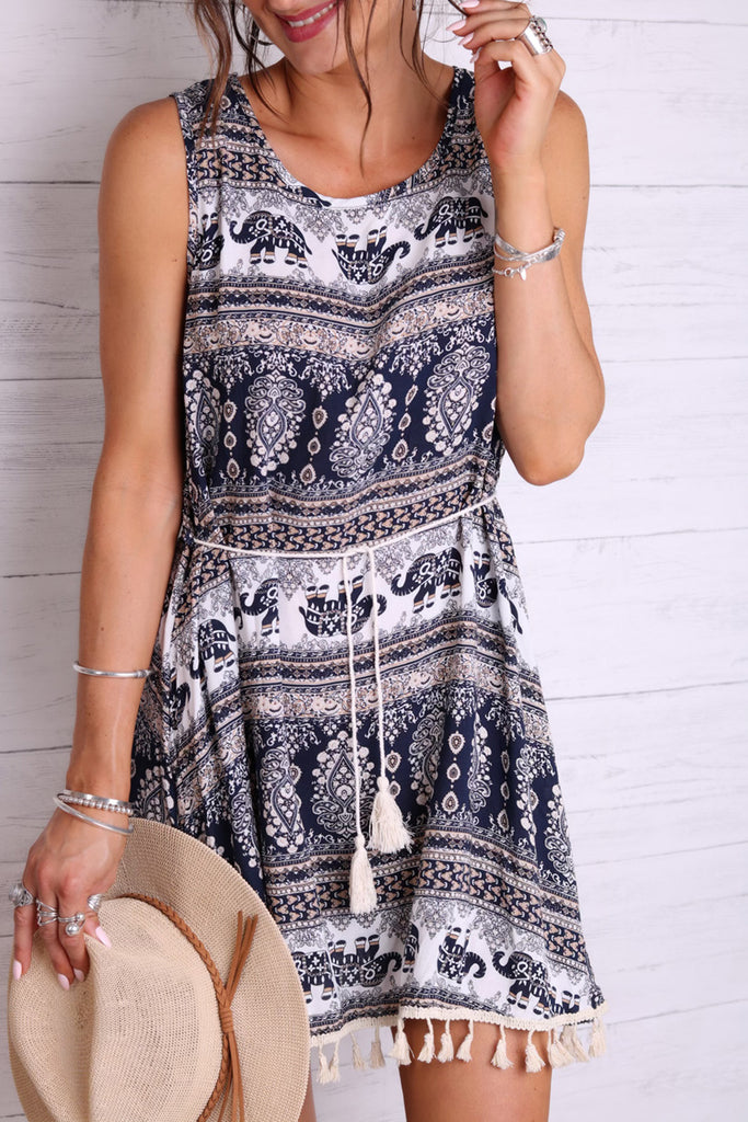 Easy Livin' Tassel Dress