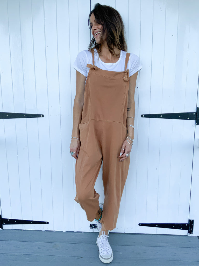 Keepin' Real Sloppy Jersey Cotton Dungarees