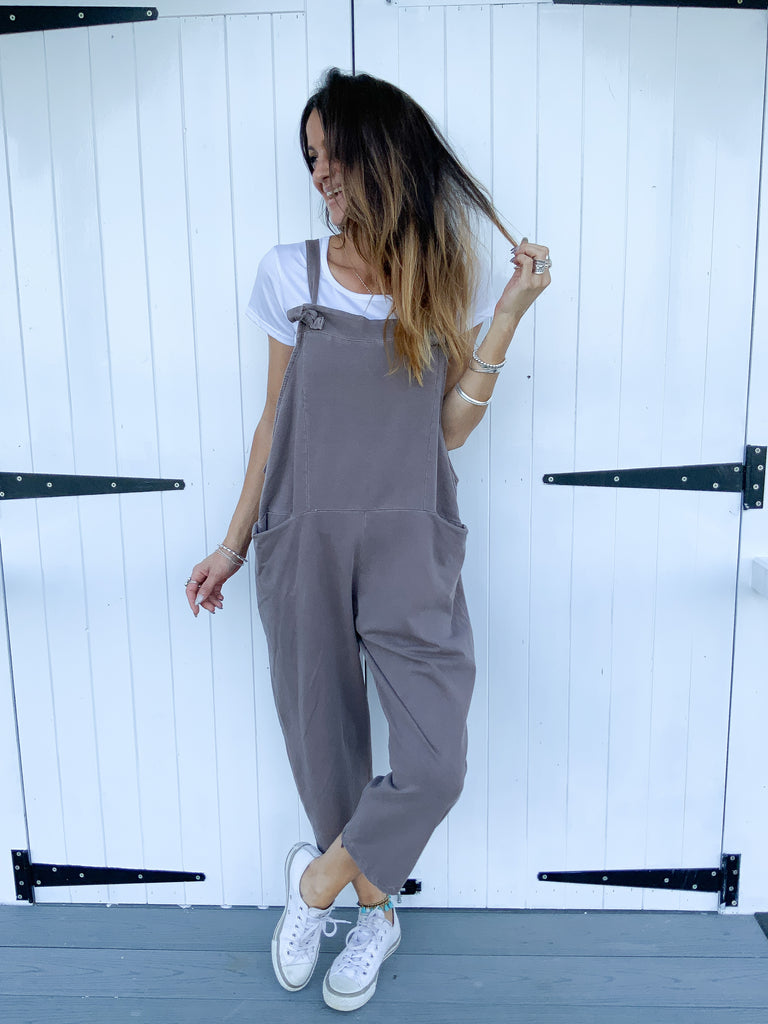 A One And Only Sloppy Jersey Cotton Dungarees