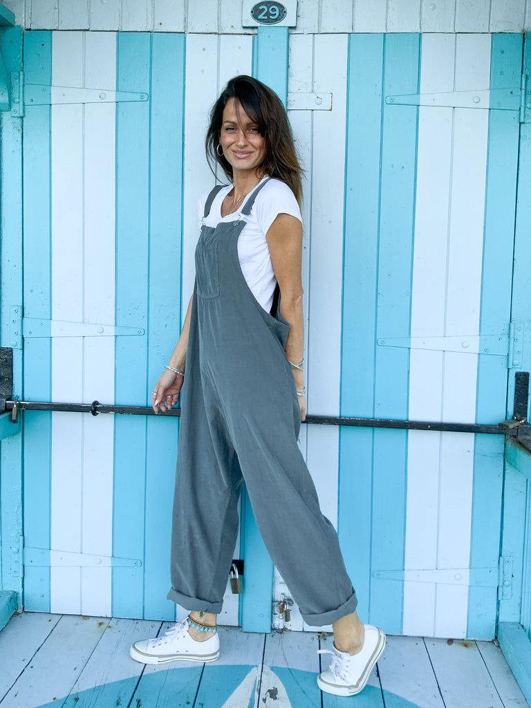 Free Your Mind Slouchy Buckle Up Corduroy Dungarees