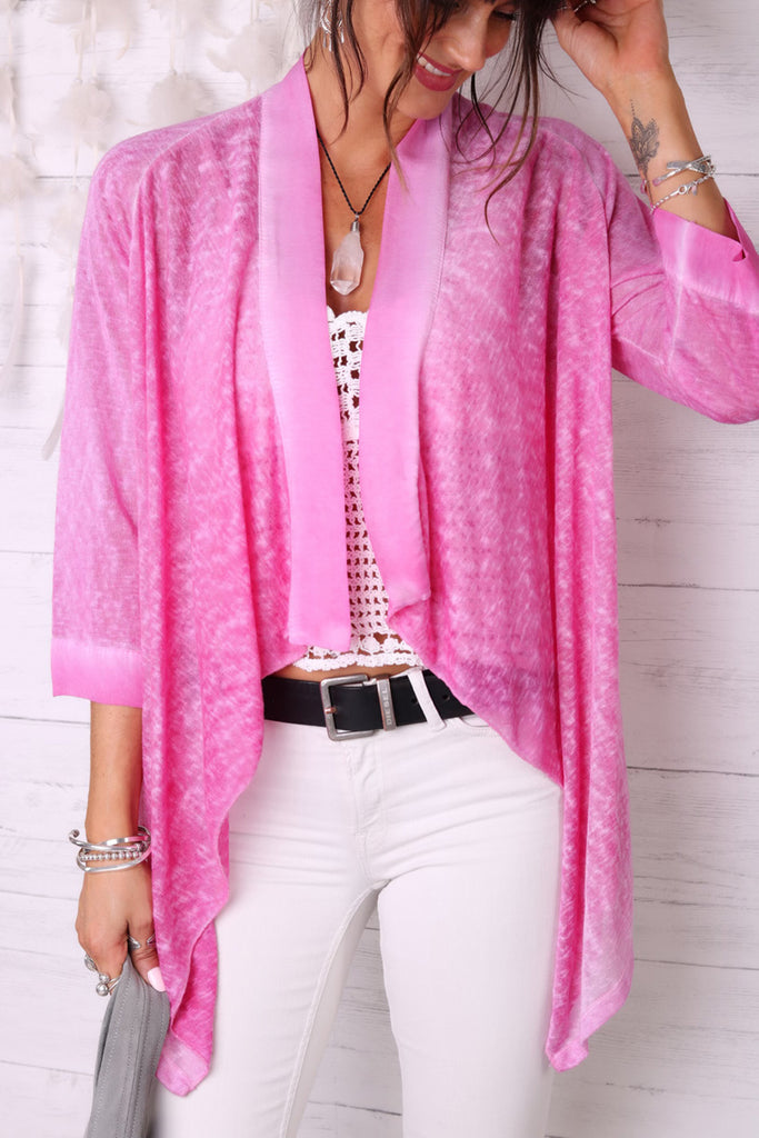 Must Be Love Linen and Silk Kimono Top