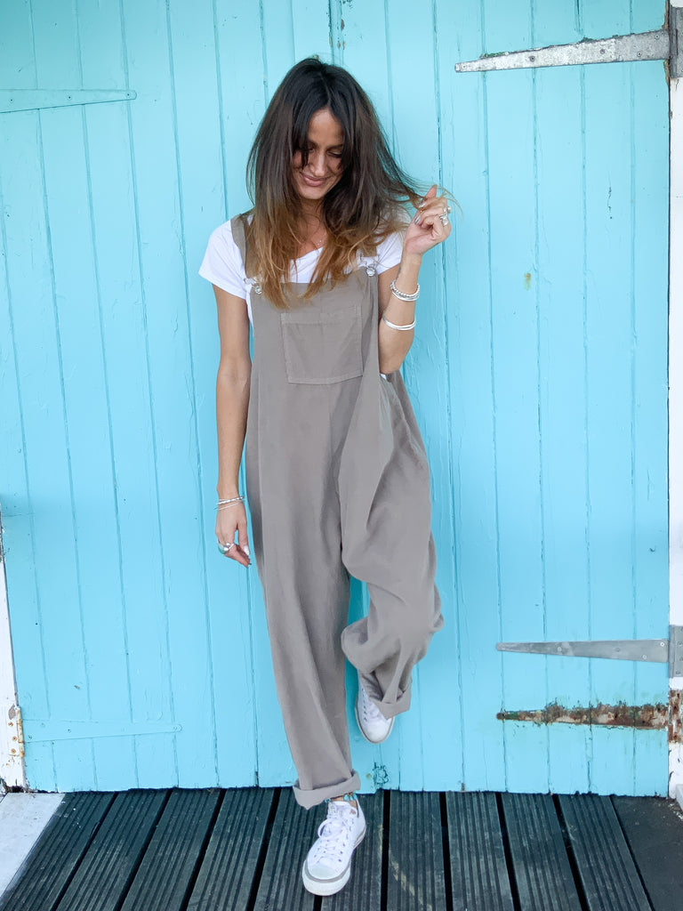 Wild And Free Slouchy Buckle Up Corduroy Dungarees