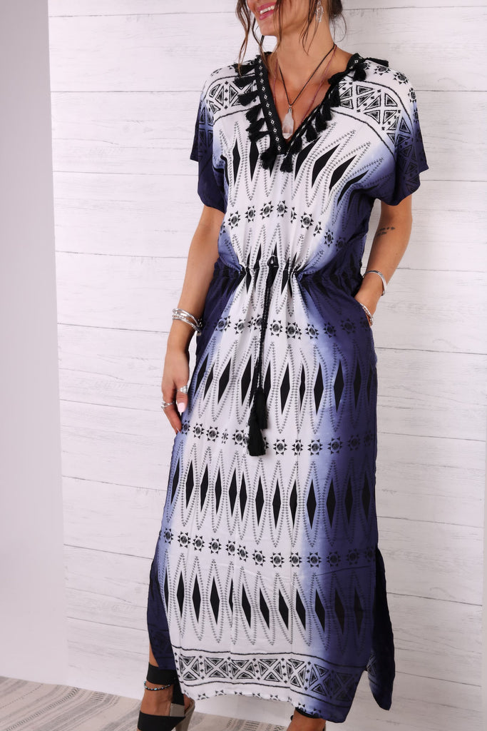 Lost Lovers Bohemian Ocean Maxi Dress