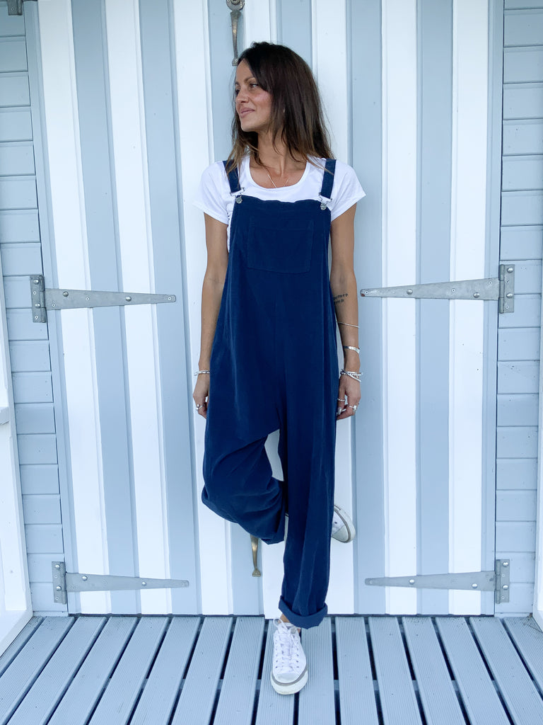 True Blue I Love You Slouchy Buckle Up Corduroy Dungarees
