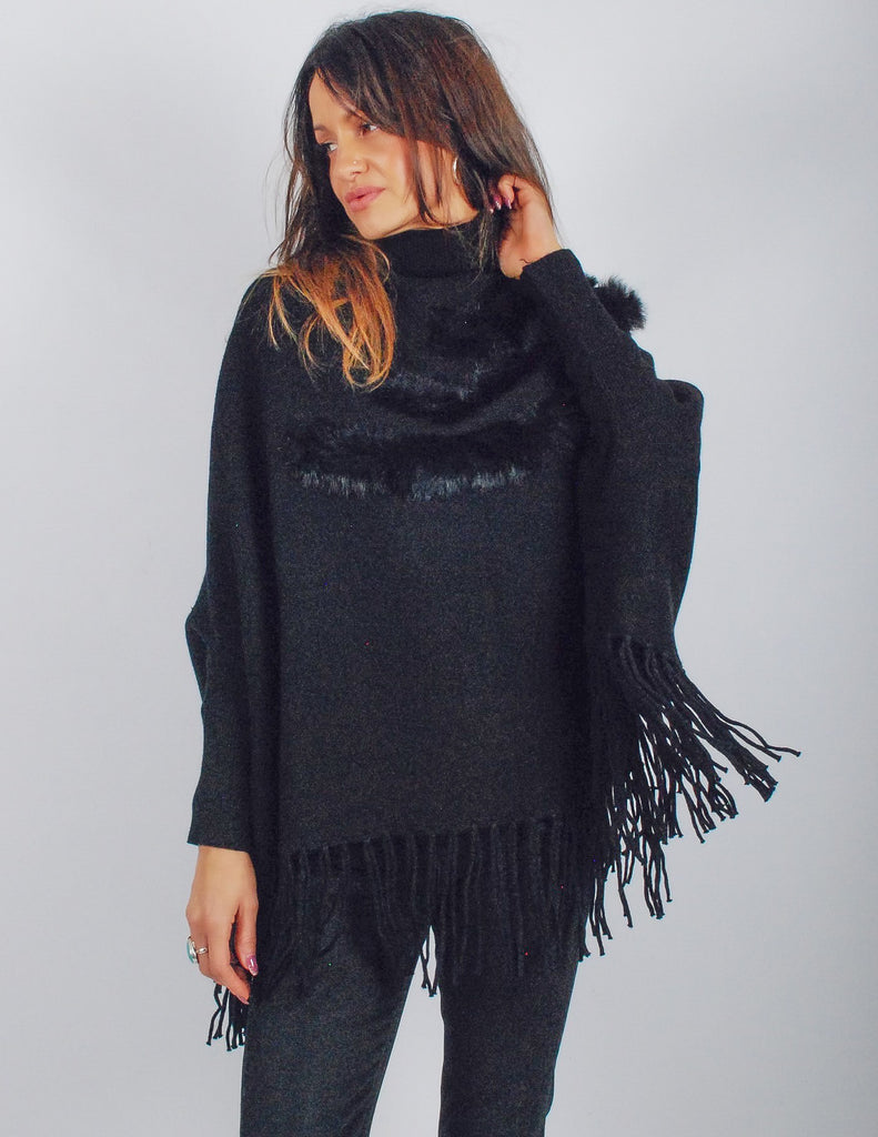 Quartz Roll Neck Tassel Jumper
