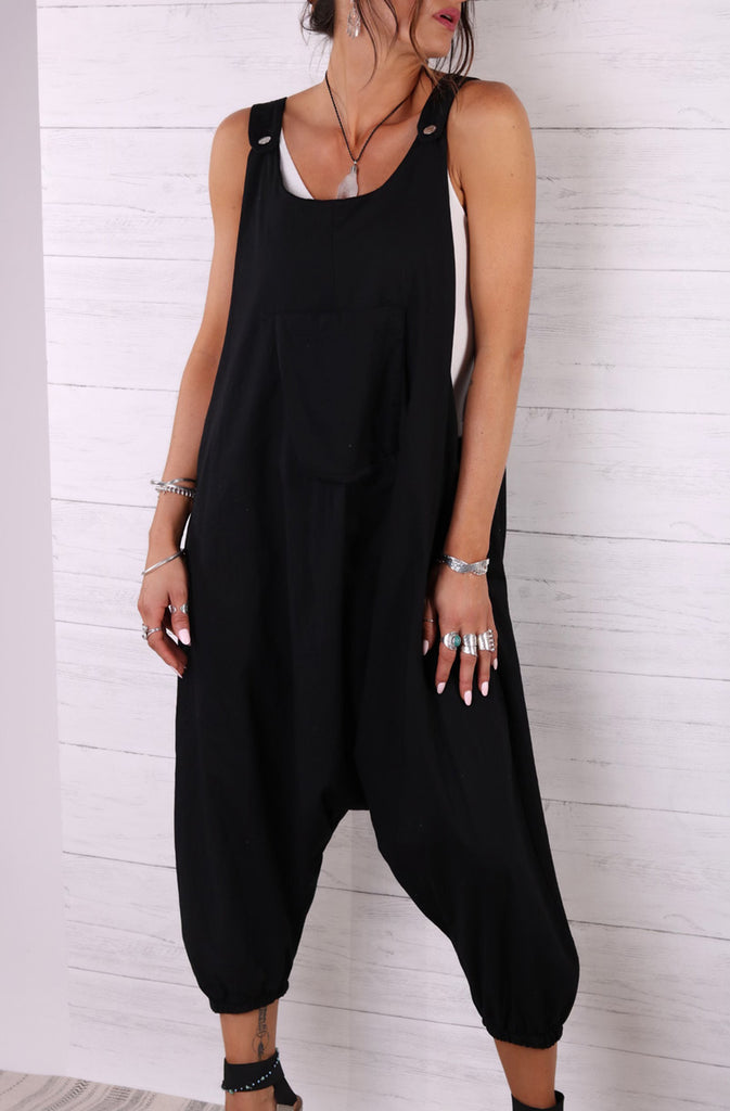 Be Yourself Harem Drop Soft And Slouchy Dungarees