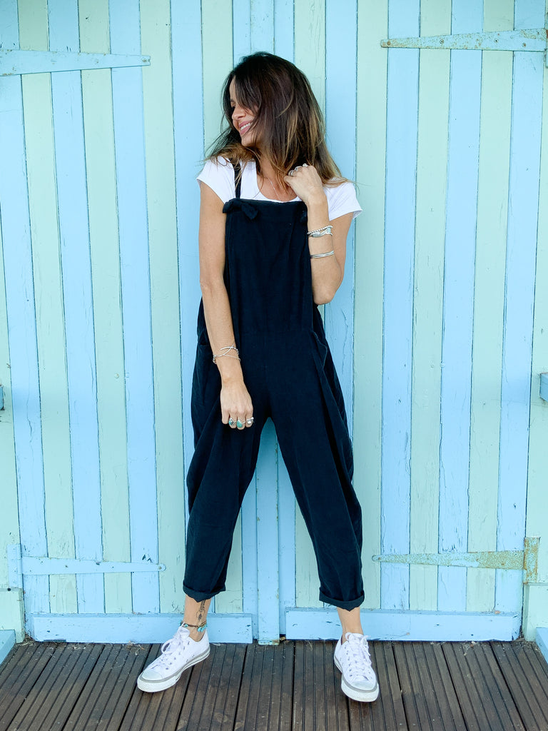 Take Me Sailing Slouchy Tie Up Corduroy Dungarees