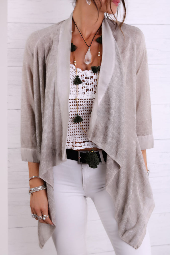 You're So Gorgeous Linen and Silk Kimono Top