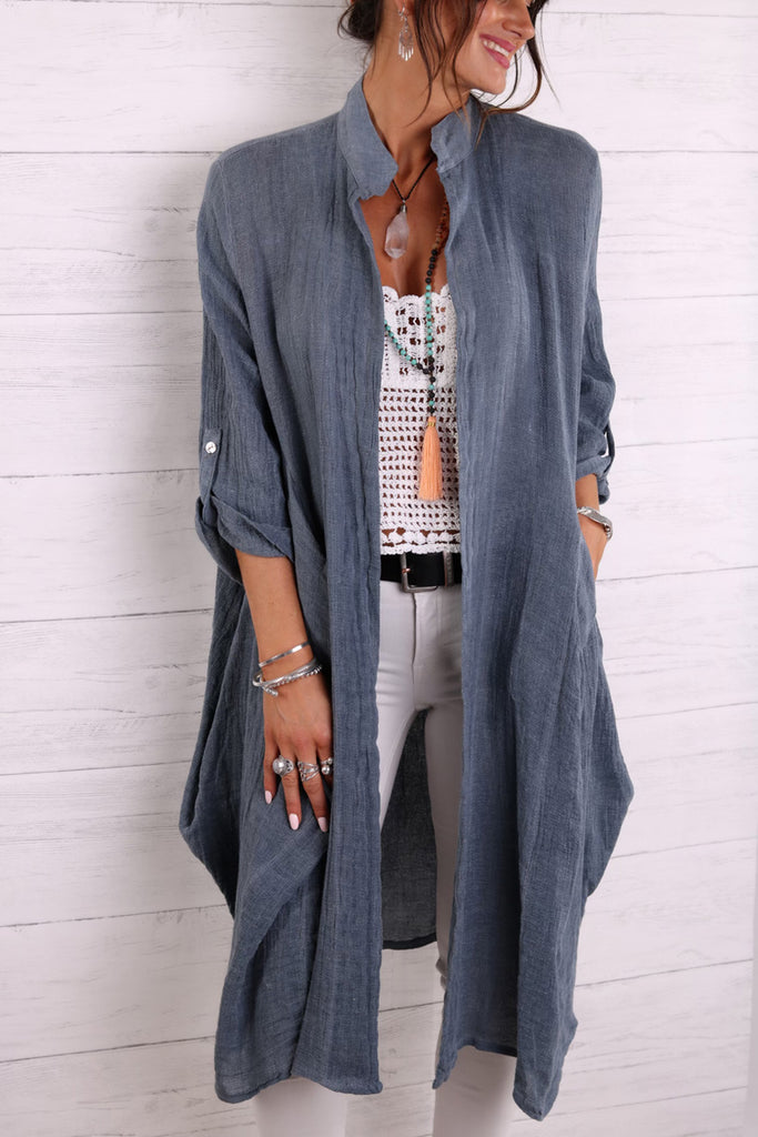 Beautiful Day Long Linen Jacket