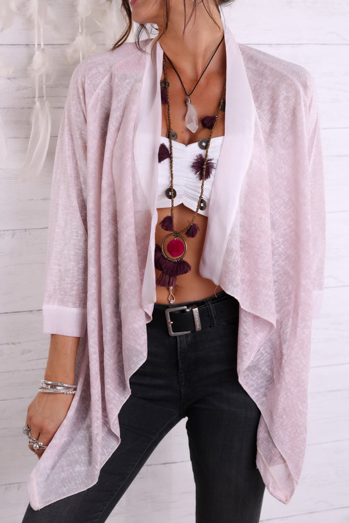 Forever Young Linen and Silk Kimono Top