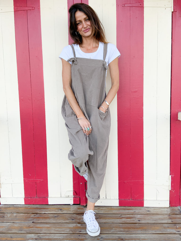 A Love, Wear, Repeat thing, Slouchy Tie Up Corduroy Dungarees
