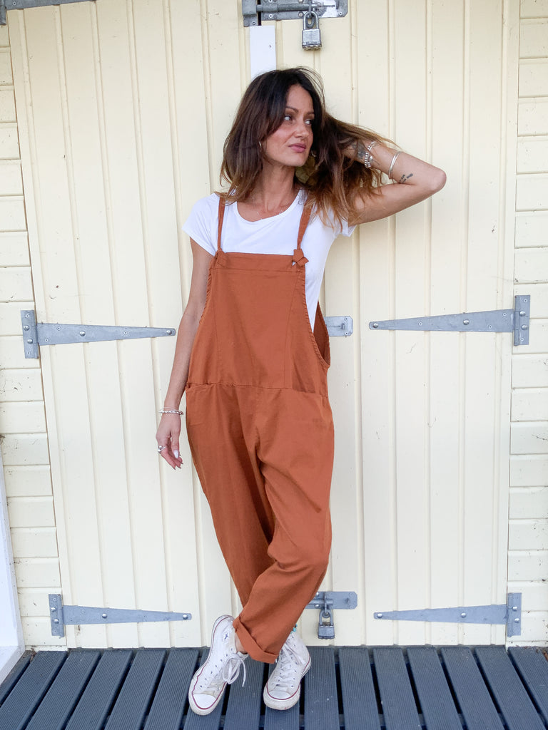 Best Of Both Worlds Soft And Slouchy Cotton Dungarees