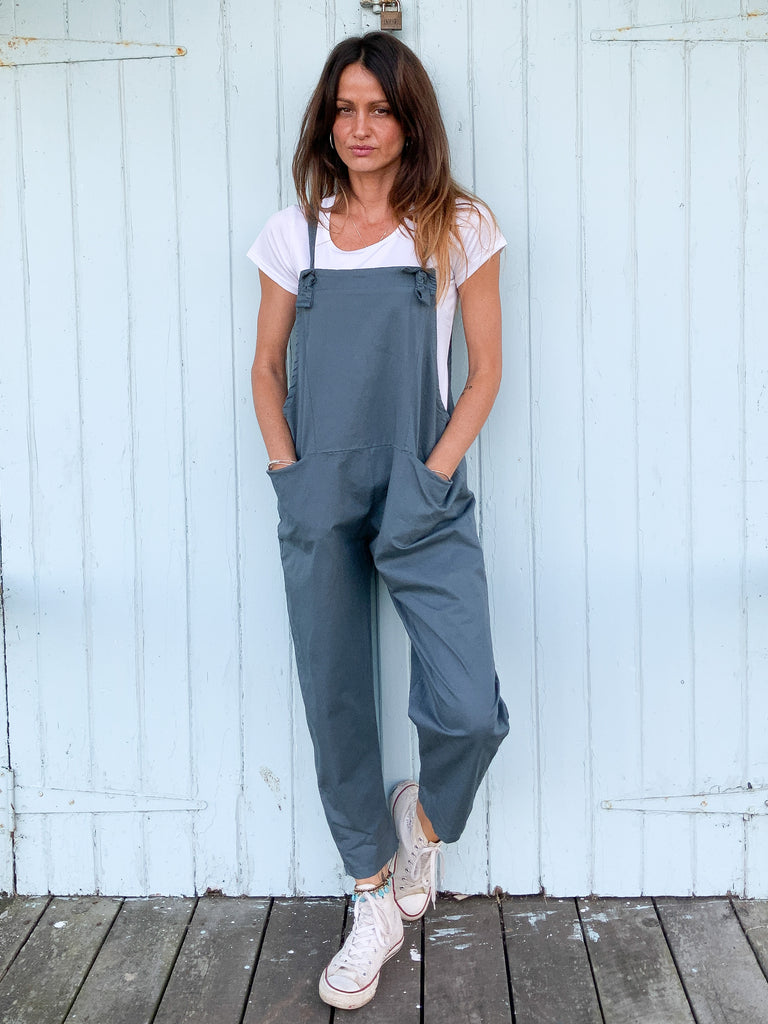 What A Girl Soft And Slouchy Cotton Dungarees