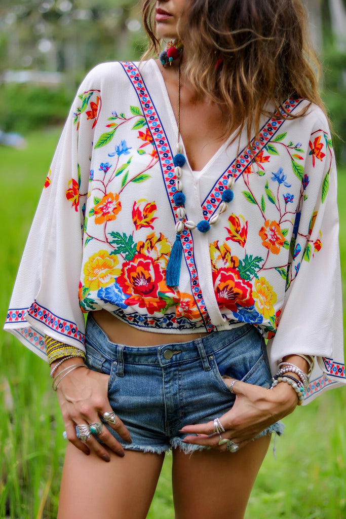 Lost Lovers Bohemian Emma Crop Top