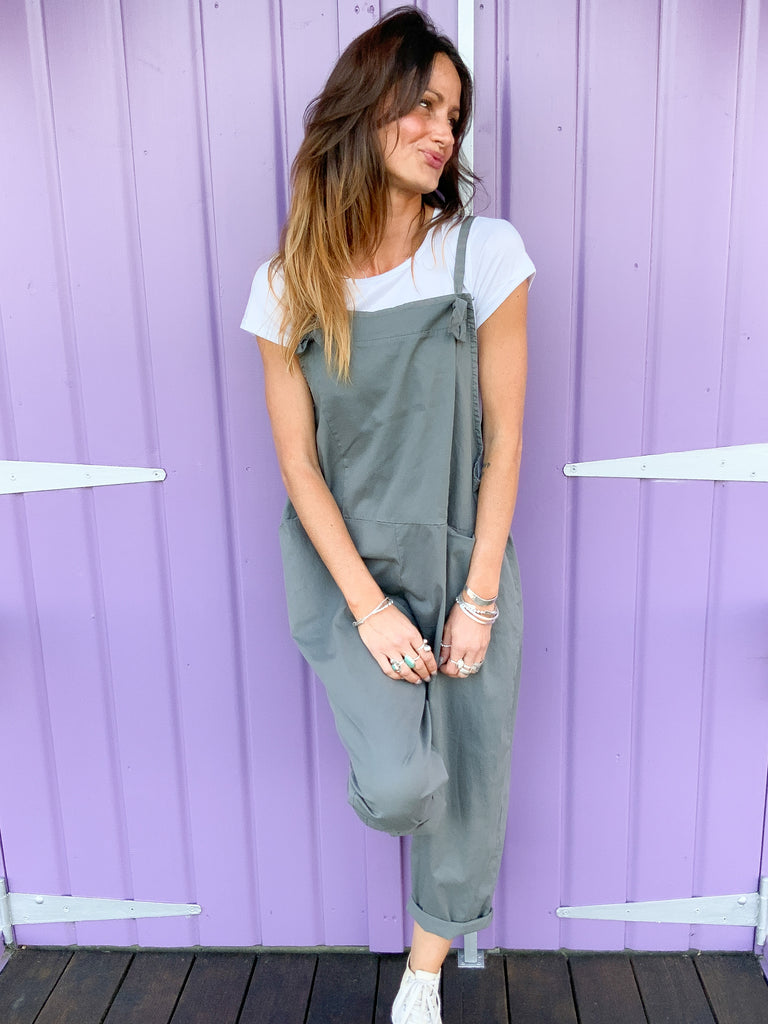 Piece Of Me Soft And Slouchy Cotton Dungarees