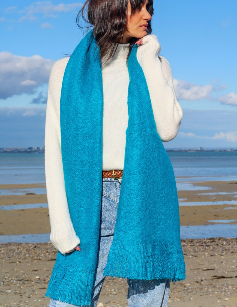 True Blue Cosy Wrap Around Scarf