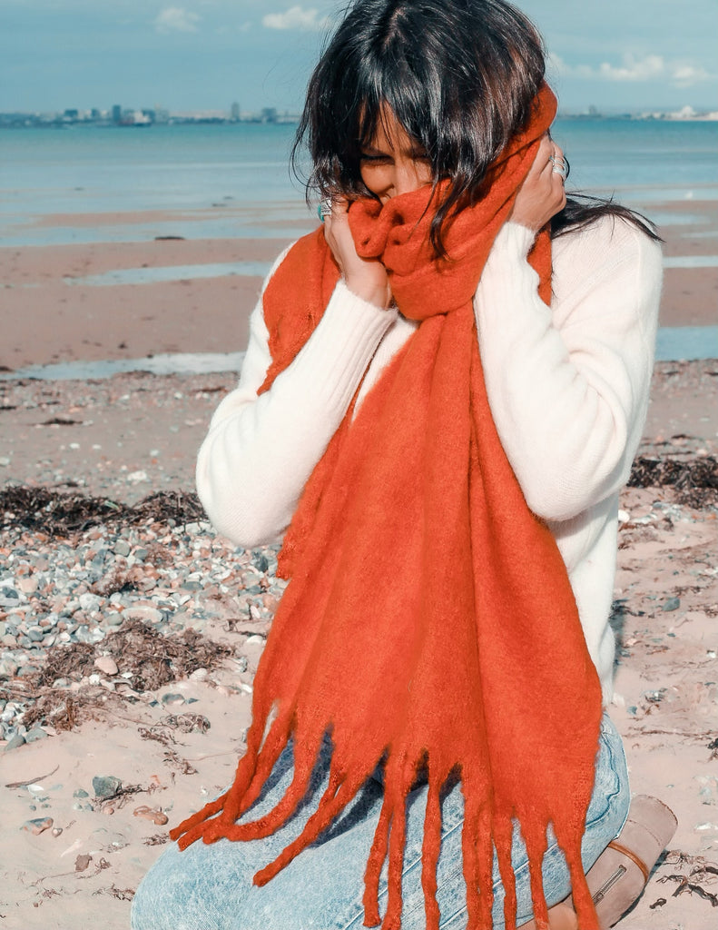 Swept Up Cosy Wrap Around Scarf