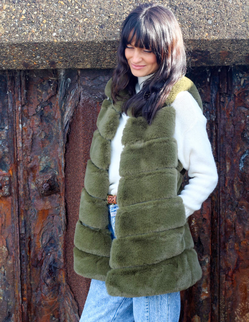 Alpine Soft Faux Fur Gilet