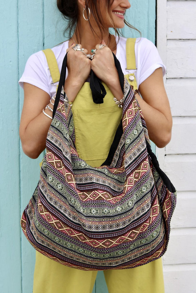 Free Your Spirit Handmade Oversized Slouchy Sling Bag