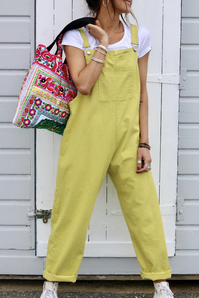 Heat Wave Soft And Slouchy Buckle Up Dungarees