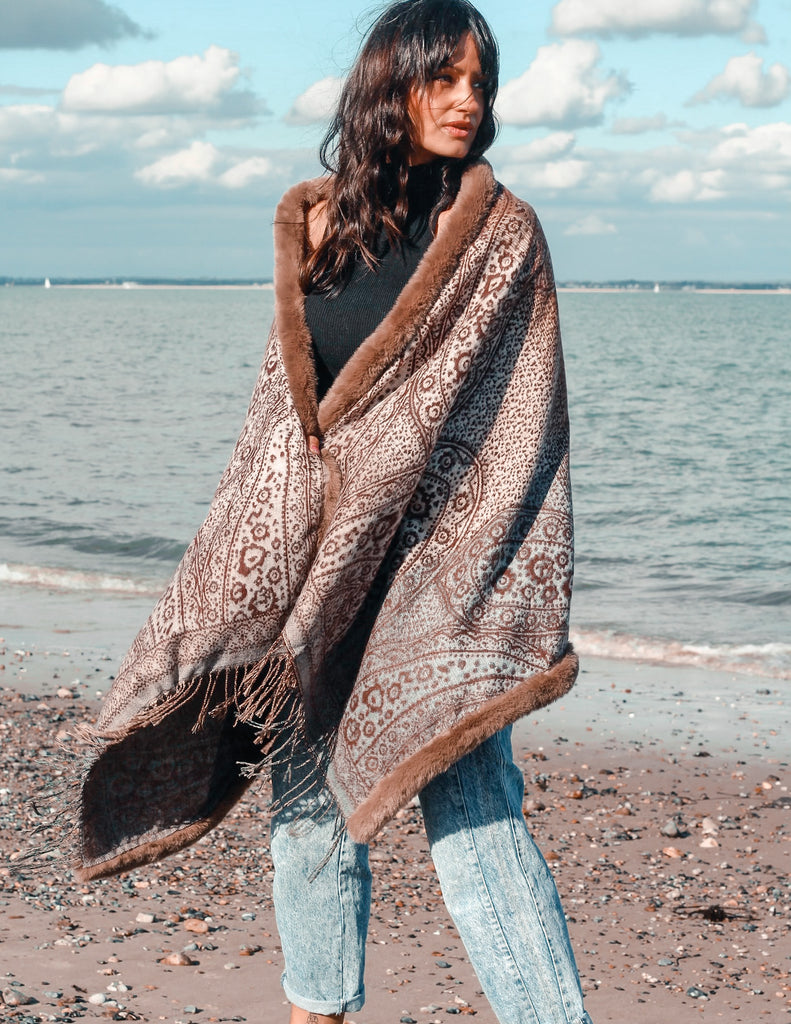 Fools Gold Luxurious Cape Shawl