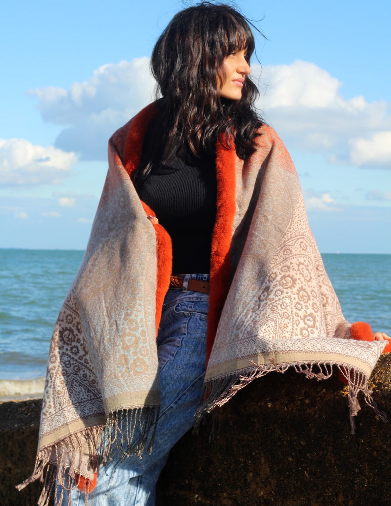 Kissing Sunlight Luxurious Cape Shawl