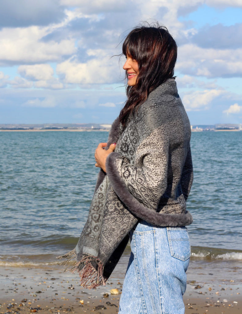 Beautiful Souls Luxurious Cape Shawl