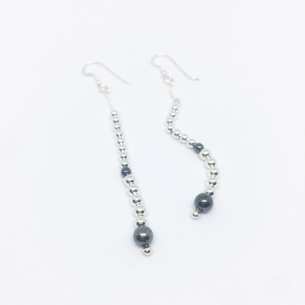 Lets Go Out Drop Real Silver Earrings