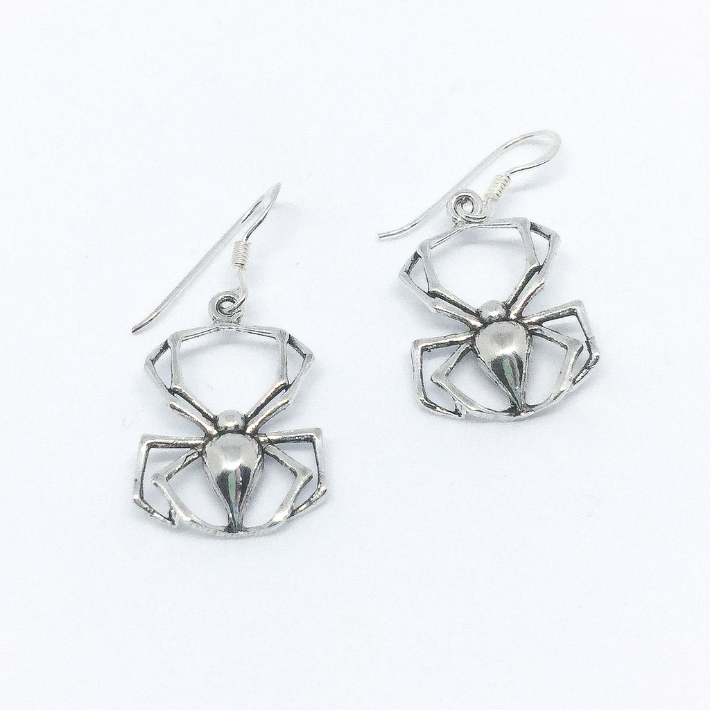 Spider Real Silver Earrings