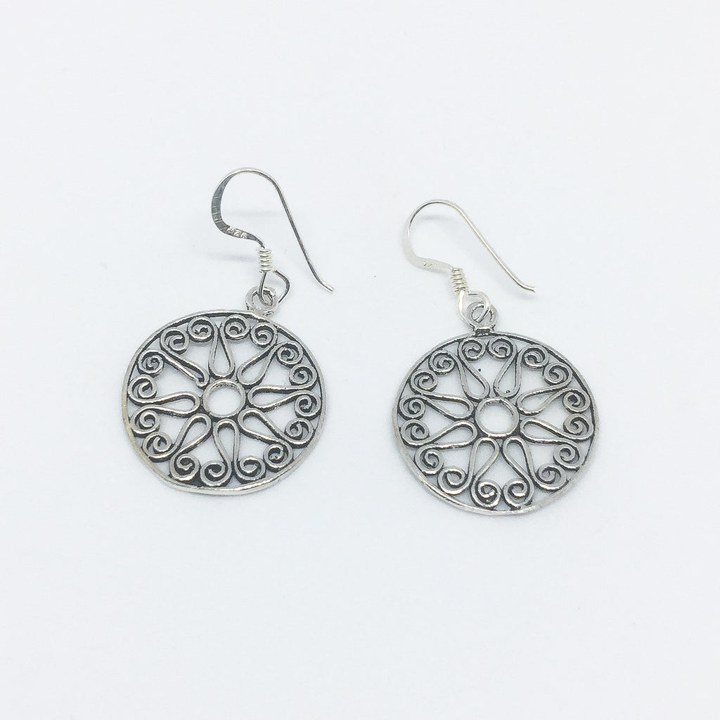 The World Real Silver Earrings