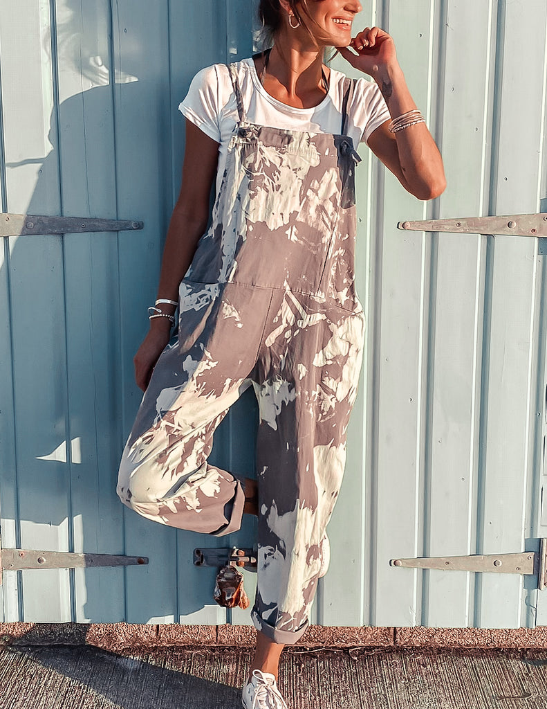 A Dream State Soft And Slouchy Splash Dungarees