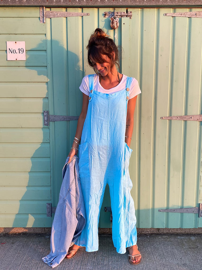 Tempo 100% Pure Linen Dungarees