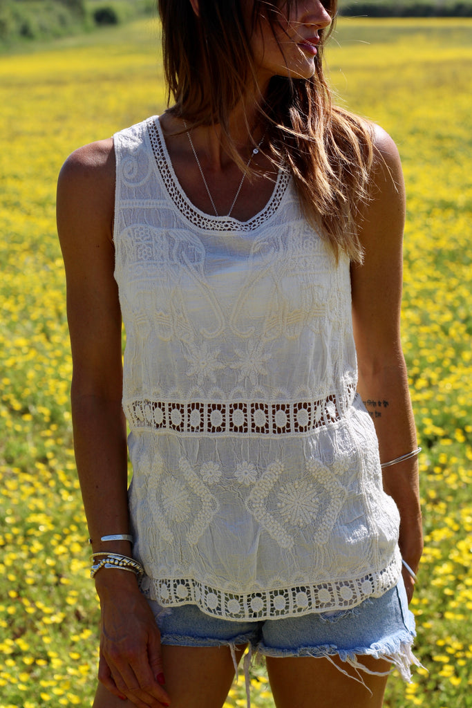 Get Away With Me Elephant Crochet Top