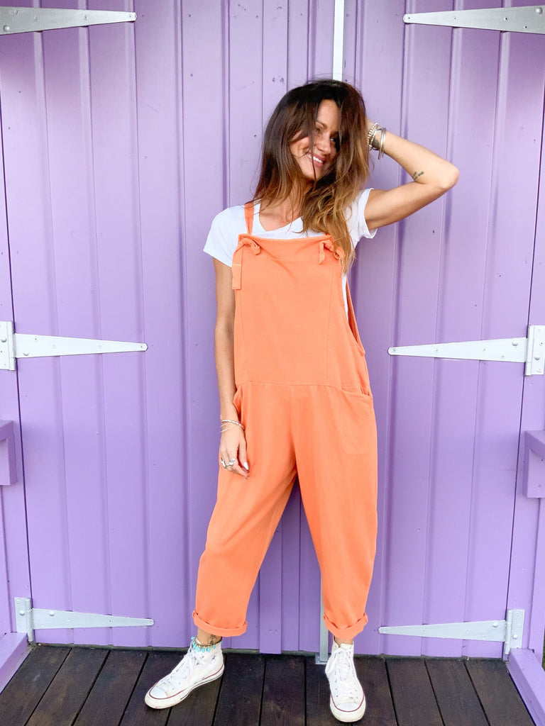 Whats The Verdict Sloppy Jersey Cotton Dungarees