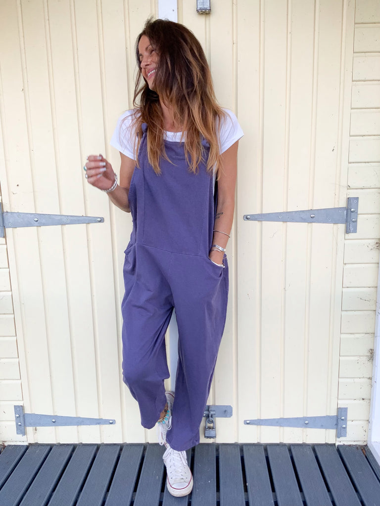 Win Or Loose Sloppy Jersey Cotton Dungarees