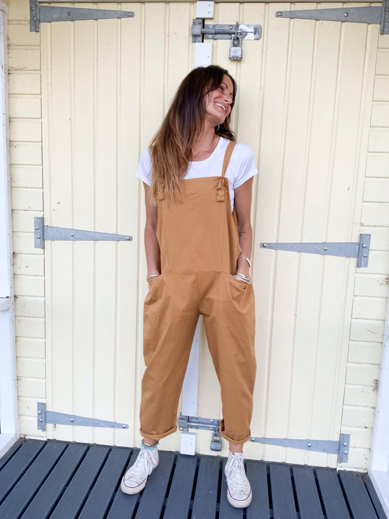Free Your Mind Soft And Slouchy Cotton Dungarees